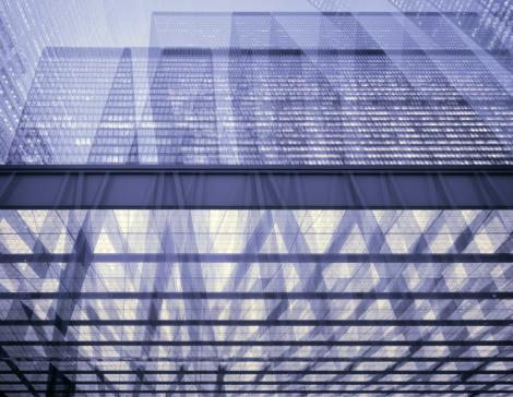 Multiple Exposure「Multiple exposure image of large skyscrapers」:スマホ壁紙(3)