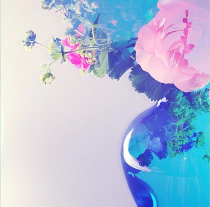 Multiple Exposure「Multiple Exposure Image of a Vase of Flowers」:スマホ壁紙(12)
