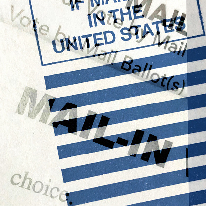 Voting Ballot「Multiple exposure of words on the mail-in ballot for the election in the United States」:スマホ壁紙(12)
