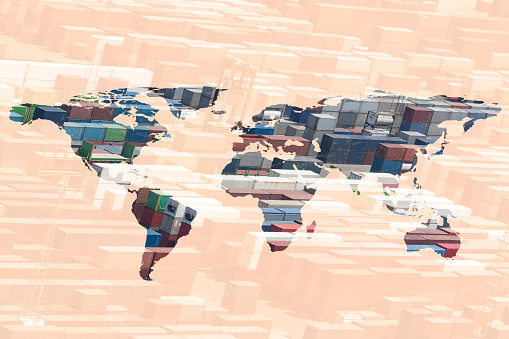 Map of the world「multiple exposure world map」:スマホ壁紙(10)