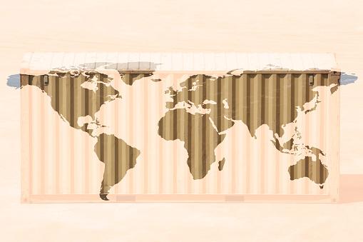 Map of the world「multiple exposure world map」:スマホ壁紙(12)