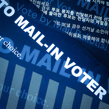 Voting Ballot「Multiple exposures of words on a mail -in ballot for the election in the United States」:スマホ壁紙(10)