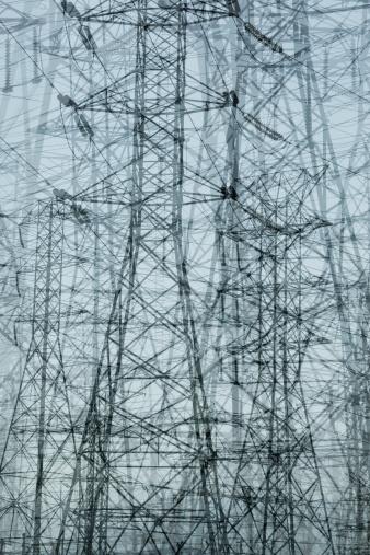 Multiple Exposure「Multiple Exposure of Power Pylons」:スマホ壁紙(5)