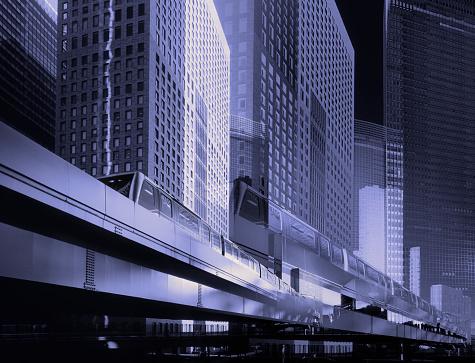 Multiple Exposure「Multiple exposure of modern business district in Tokyo, Japan」:スマホ壁紙(14)