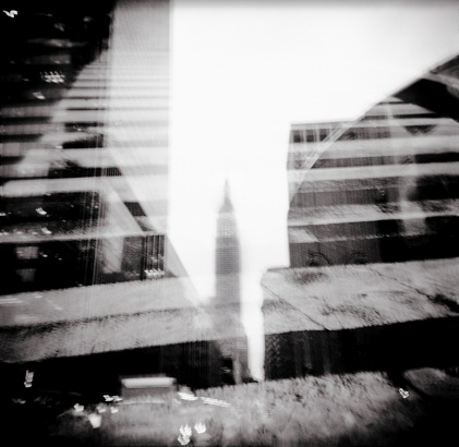 Multiple Exposure「Multiple exposure of New York City view」:スマホ壁紙(17)
