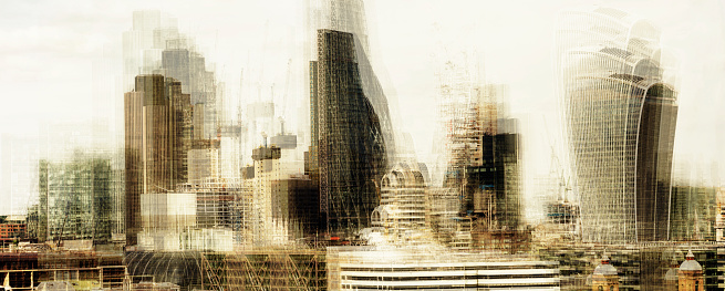 Multiple Exposure「Multiple exposure of the landmarks of City of London」:スマホ壁紙(9)