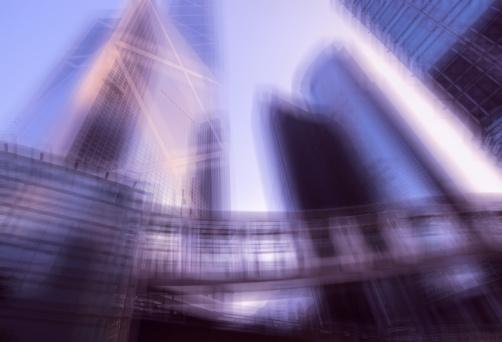 Multiple Exposure「Multiple exposure financial district of Hong Kong」:スマホ壁紙(8)