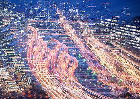 Multiple Exposure「Multiple exposure of elevated highway at dusk」:スマホ壁紙(5)
