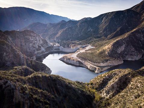 Angeles National Forest「Big Tujunga Dam- Aerial Drone shot」:スマホ壁紙(3)