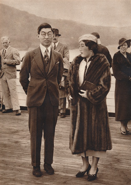 Japanese Royalty「'Prince and Princess Chichibu arriving on the Queen Mary, April 12th', 1937」:写真・画像(1)[壁紙.com]