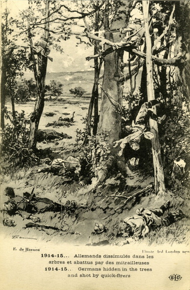 Hiding「German soldiers hiding in trees being shot down」:写真・画像(8)[壁紙.com]