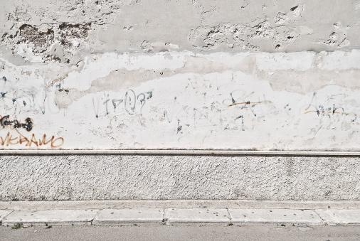 Dirt Road「Old concrete grunge wall with sidewalk」:スマホ壁紙(1)