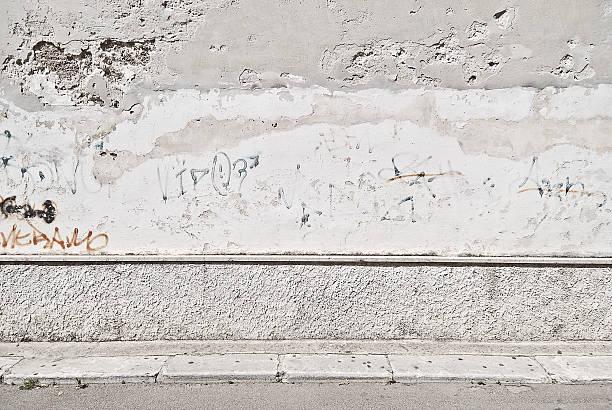 Old concrete grunge wall with sidewalk:スマホ壁紙(壁紙.com)