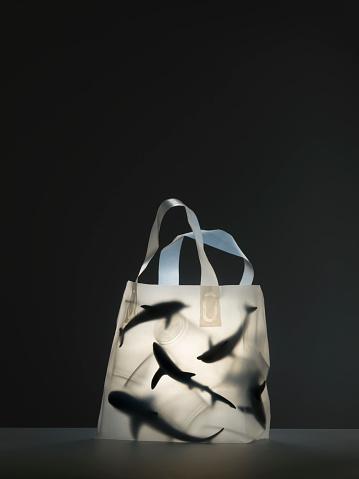 イルカ「Plastic sea life creatures in plastic bag filled with plastic cups」:スマホ壁紙(17)