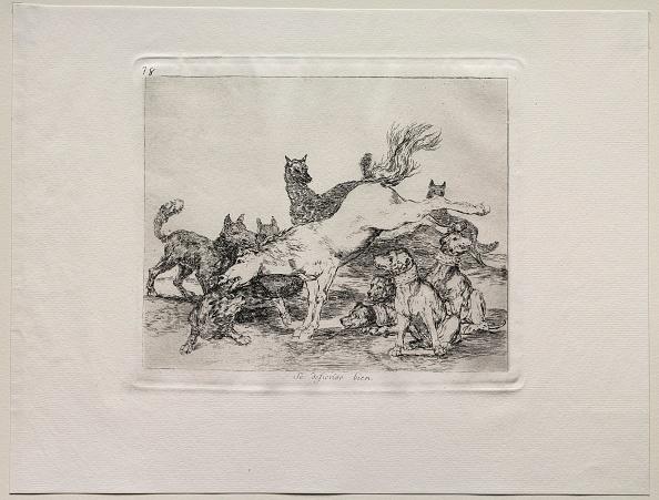 Etching「The Horrors Of War: He Defends Himself Well. Creator: Francisco De Goya (Spanish」:写真・画像(6)[壁紙.com]