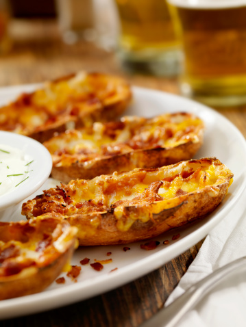 Baked Potato「Bacon and Cheddar Stuffed Potato Skins」:スマホ壁紙(2)