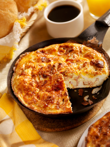 Cast Iron「Bacon and Cheese Frittata」:スマホ壁紙(1)
