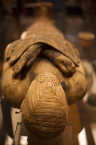 Ancient Civilization「Egypt, Egyptian mummy at a museum」:スマホ壁紙(0)