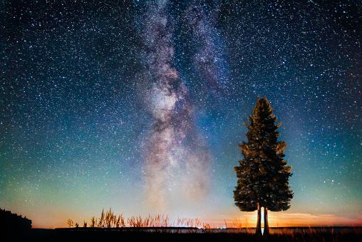 star sky「Milky way moon set」:スマホ壁紙(7)