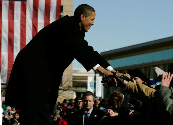 Presidential Candidate「Barack Obama Announces Run For President」:写真・画像(4)[壁紙.com]