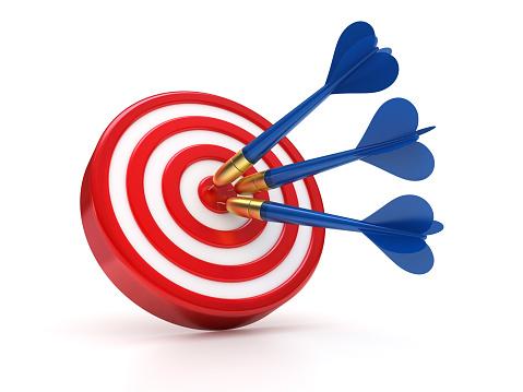 Sports Target「Blue darts hitting the success target」:スマホ壁紙(6)
