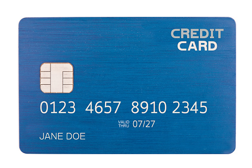 Number「Isolated Credit Card With Chip」:スマホ壁紙(9)