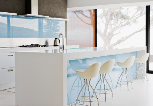 Stool「Counter island and stools in modern kitchen」:スマホ壁紙(18)