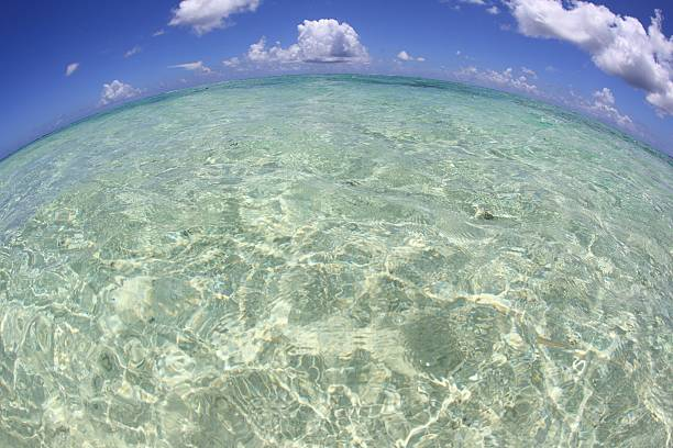 Blue sky and the ocean, Saipan, Northern Mariana Islands:スマホ壁紙(壁紙.com)