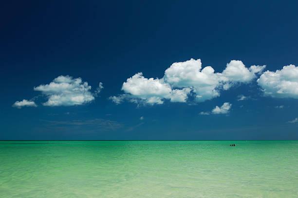 Blue sky and turquoise-green sea, at Holbox Island:スマホ壁紙(壁紙.com)