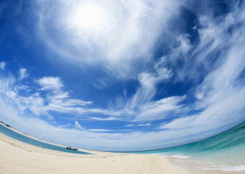 Fish-Eye Lens「Blue sky and sea」:スマホ壁紙(6)