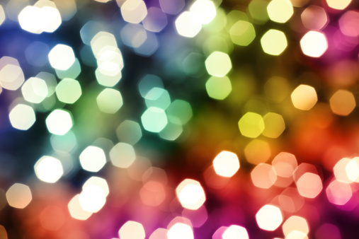 Christmas「Colorful Defocused Lights」:スマホ壁紙(13)