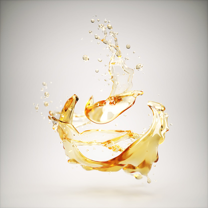 Splashing Droplet「Liquid splash on grey background」:スマホ壁紙(19)