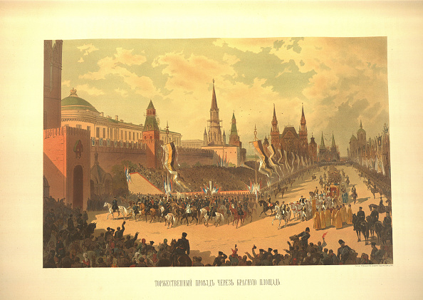 Chromolithograph「The Ceremonial Entry of Alexander III in the Red Square (From the Coronation Album), 1883」:写真・画像(4)[壁紙.com]