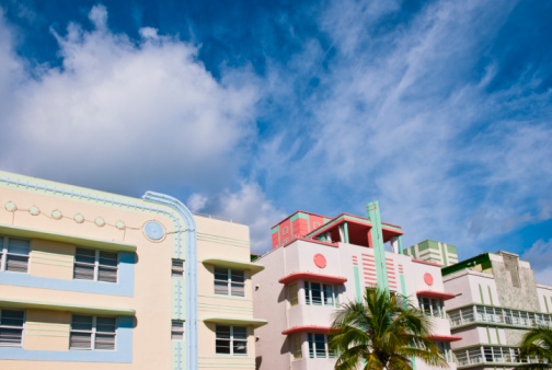 Miami Beach「Art deco buildings」:スマホ壁紙(18)