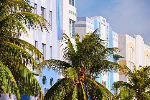 Miami Beach「Art deco buildings」:スマホ壁紙(9)