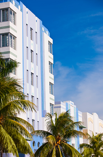 Miami Beach「Art deco buildings」:スマホ壁紙(11)