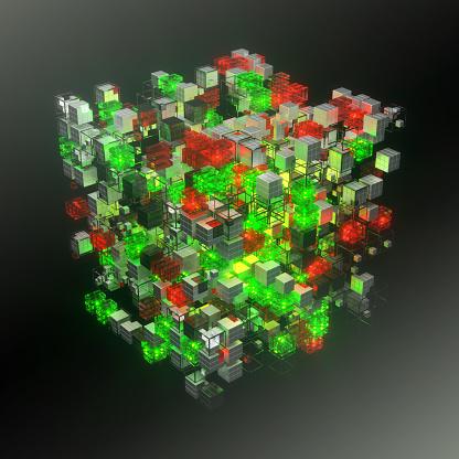Quantum Computing「Virtual representation of big data or stock exchange indexes」:スマホ壁紙(10)