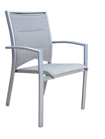 Deck Chair「Outdoor aluminium chair isolated on white background」:スマホ壁紙(13)