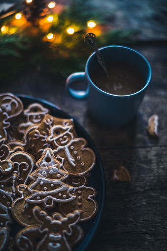 Christmas Cracker「New year homemade cookies and coffee」:スマホ壁紙(7)