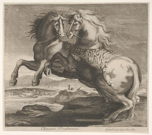 Etching「Chevaux Poulonnois Creator: Charles Errard Le Fils」:写真・画像(1)[壁紙.com]