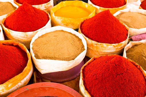 Salé - Morocco「Morocco, Guelmim, spices at a market」:スマホ壁紙(13)