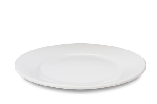 Food「Empty plate on white」:スマホ壁紙(19)