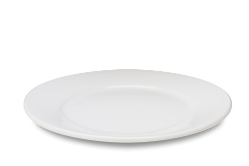 White Background「Empty plate on white」:スマホ壁紙(8)
