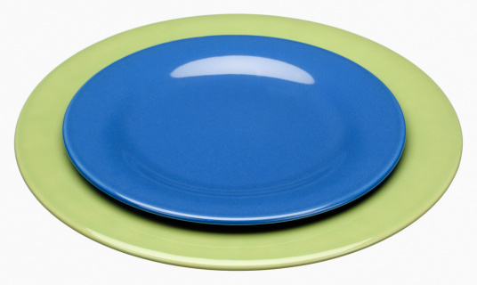 Meal「empty plates cut out on white」:スマホ壁紙(3)