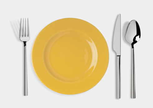 Spoon「Empty plate with Knife, Spoon and Fork」:スマホ壁紙(1)