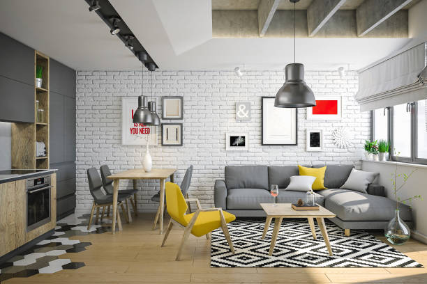 Luxury and cozy small living room for young and wild people:スマホ壁紙(壁紙.com)