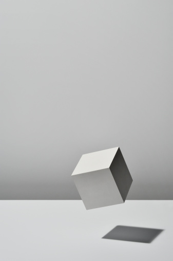 Imagination「White Cube is floating on white background」:スマホ壁紙(13)