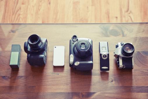 Digital Camera「Cameras from all eras in a row」:スマホ壁紙(10)