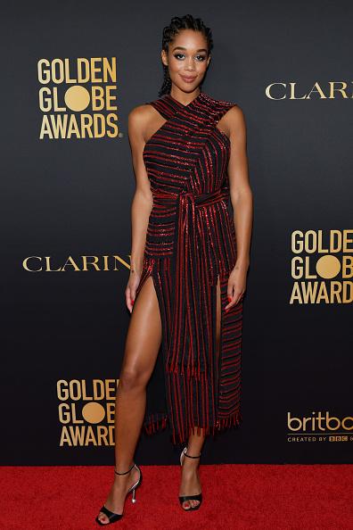 Striped Dress「HFPA And THR Golden Globe Ambassador Party - Press Conference And Arrivals」:写真・画像(3)[壁紙.com]