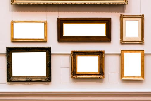 アンティーク「6 つの写真フレームにホワイトの空白スペース、コピースペース」:スマホ壁紙(10)